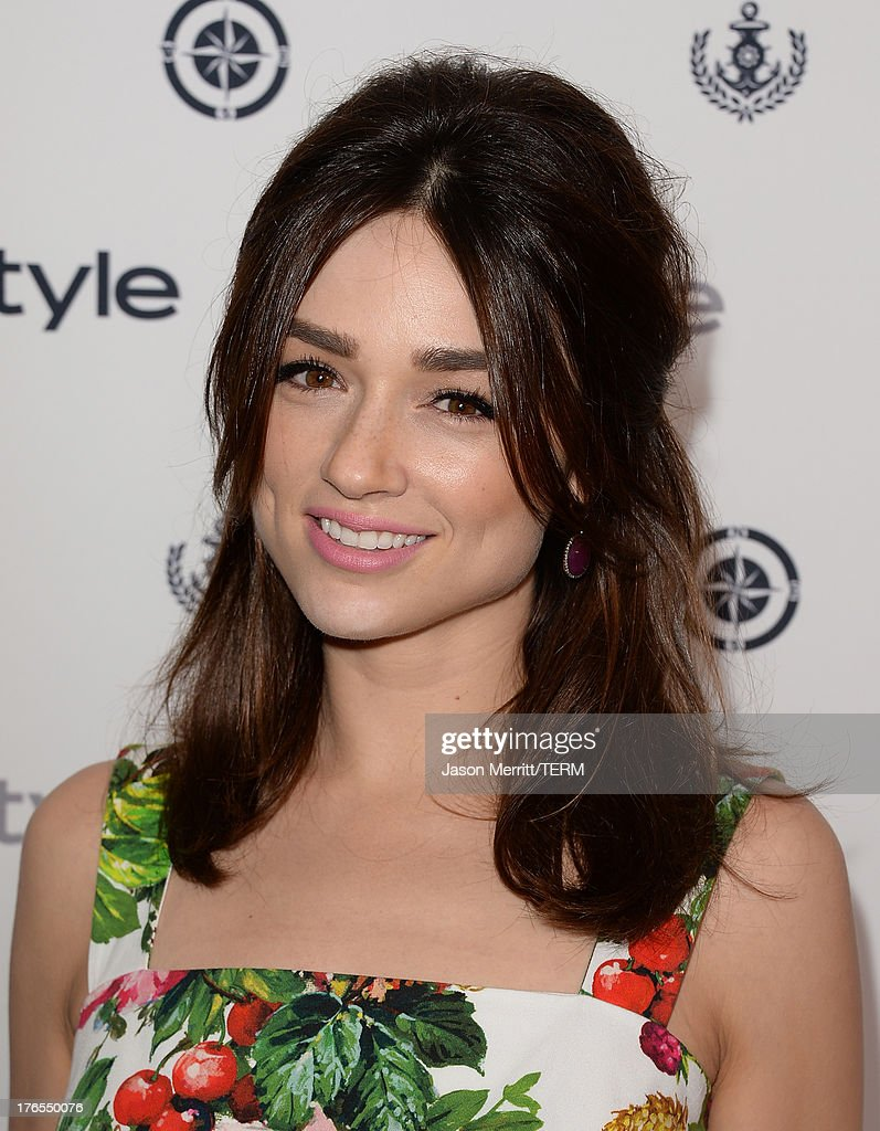 Actress <a gi-track='captionPersonalityLinkClicked' href=/galleries/search?phrase=Crystal+Reed&family=editorial&specificpeople=7115314 ng-click='$event.stopPropagation()'>Crystal Reed</a> attends the InStyle Summer Soiree held Poolside at the Mondrian hotel on August 14, 2013 in West Hollywood, California.