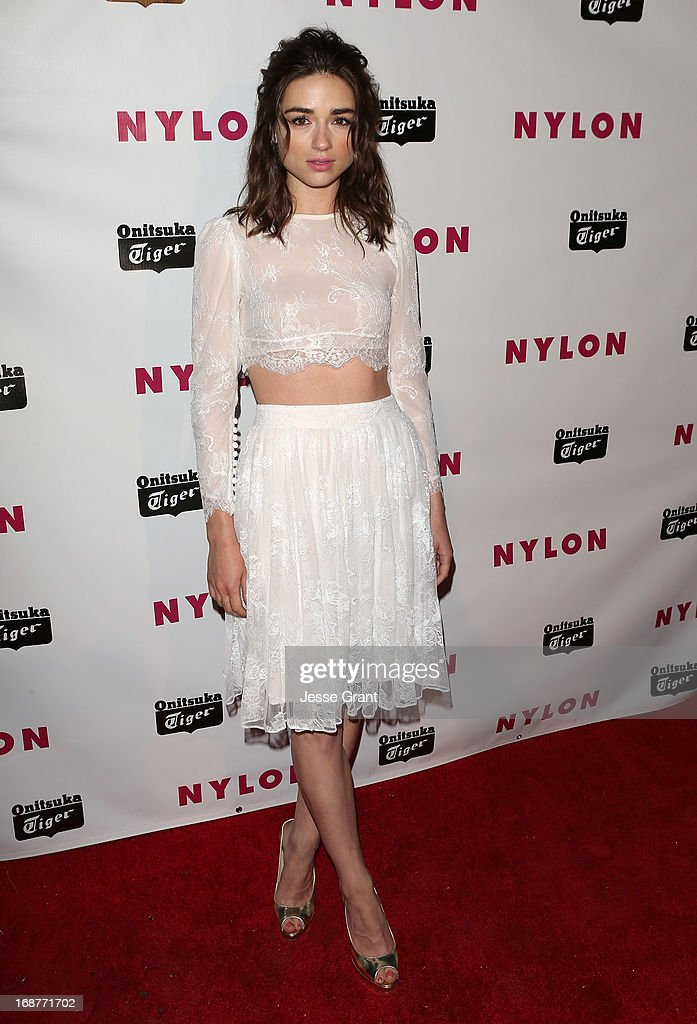 Actress Crystal Reed attends the NYLON Magazine Annual May Young Hollywood Issue Party at The Roosevelt Hotel on May 14, 2013 in Hollywood, California.