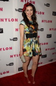 Actress Crystal Reed attends the Nylon Magazine Young Hollywood May issue launch party at Bardot on May 4 2011 in Los Angeles California