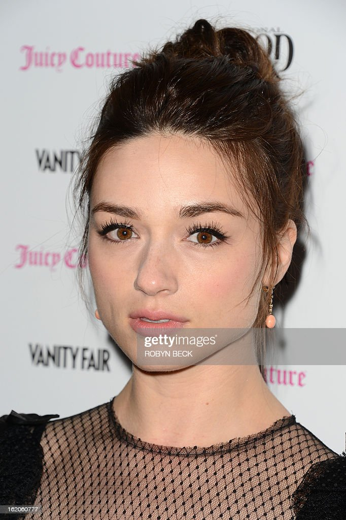Actress Crystal Reed attends the Vanity Fair And Juicy Couture Celebration Of The 2013 Vanities Calendar party at Chateau Marmont February 18, 2013 in West Hollywood, California. AFP PHOTO Robyn BECK