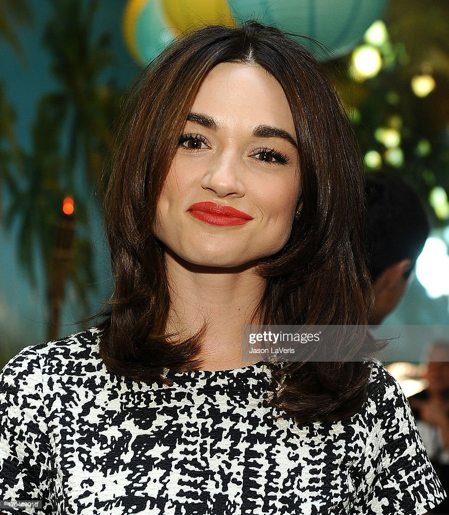 Actress Crystal Reed poses in the green room at the 2013 Teen Choice Awards at Gibson Amphitheatre on August 11, 2013 in Universal City, California.