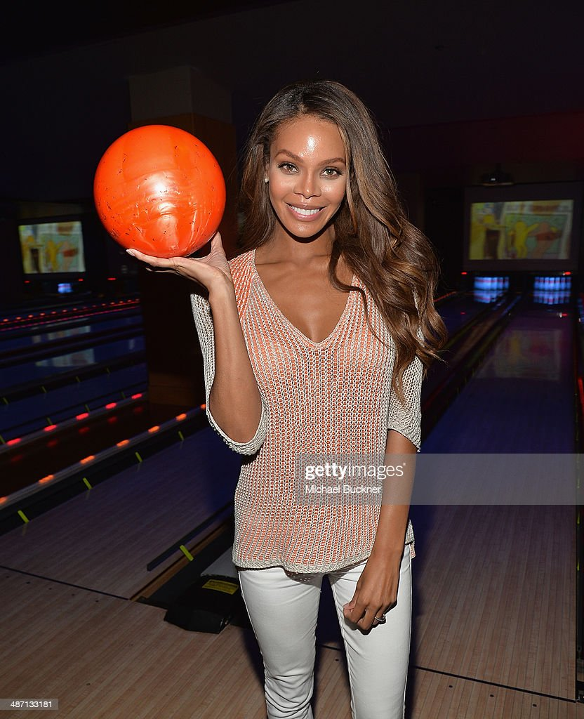 Actress <a gi-track='captionPersonalityLinkClicked' href=/galleries/search?phrase=Crystle+Stewart&family=editorial&specificpeople=5127557 ng-click='$event.stopPropagation()'>Crystle Stewart</a> attends Audi Best Buddies' Bowling For Buddies at Lucky Strike Lanes at L.A. Live on April 27, 2014 in Los Angeles, California.