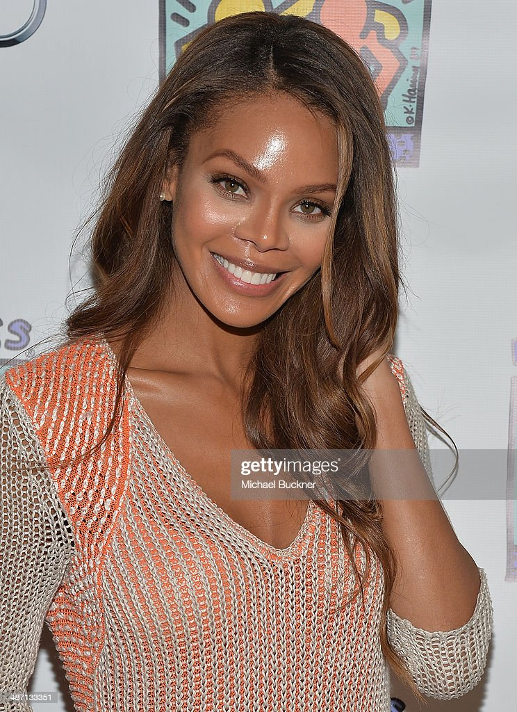 Actress Crystle Stewart attends Audi Best Buddies' Bowling For Buddies at Lucky Strike Lanes at LA Live on April 27 2014 in Los Angeles California