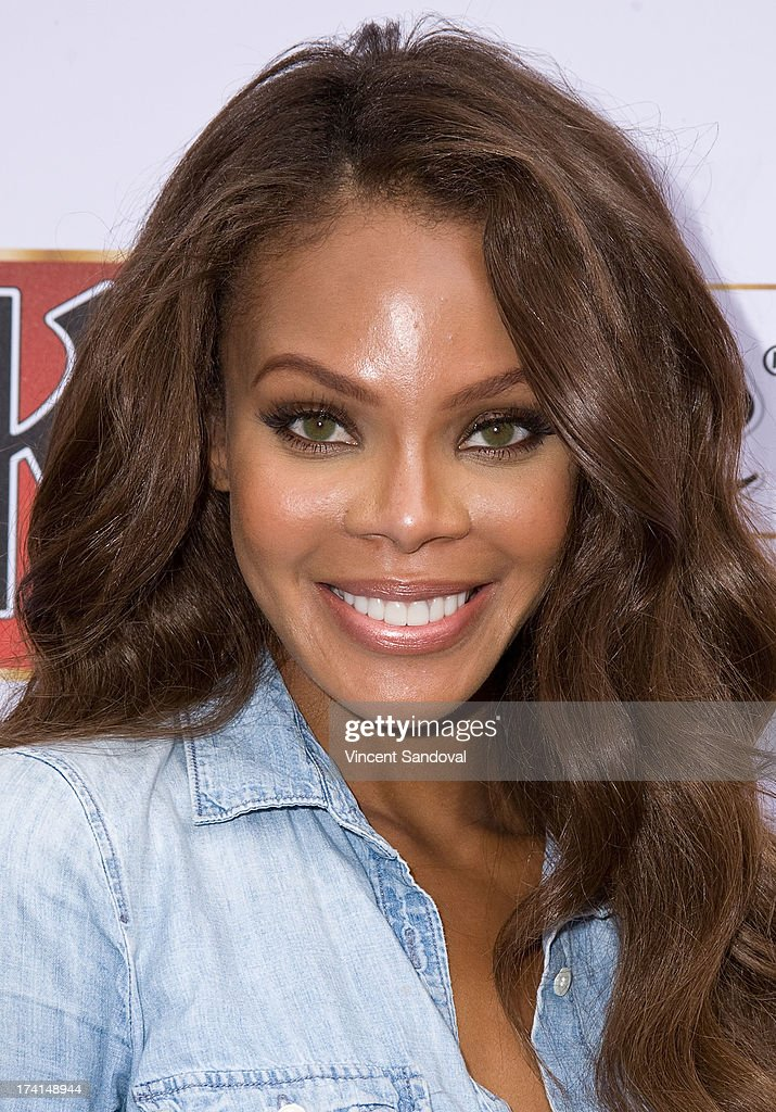 Actress Crystle Stewart attends GLAAD's annual foodthemed fundraiser 'GLAAD Hancock Park' on July 20 2013 in Los Angeles California