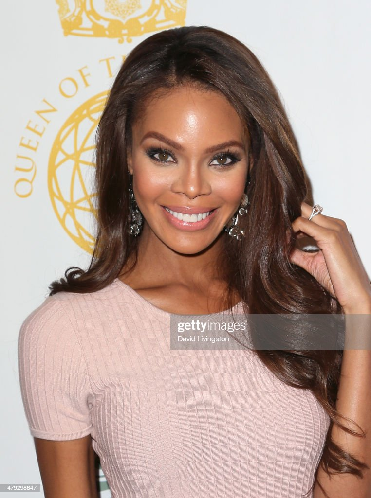Actress Crystle Stewart attends the Queen of the Universe International Beauty Pageant at the Saban Theatre on March 16 2014 in Beverly Hills...