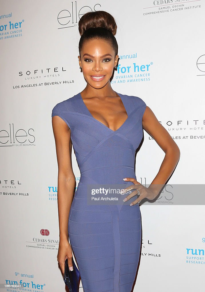 Actress Crystle Stewart attends the Run For Her fundraiser benefiting CedarsSinai's Samuel Oschin Comprehensive Cancer Institute at the Sofitel Hotel...