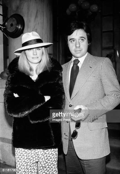 Actress Cybill Shepherd and director Peter Bogdanovich photographed outside The Plaza Hotel in New York City circa 1974