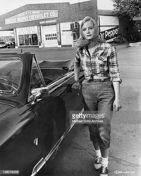 Actress Cybill Shepherd as Jacy Farrow in a scene from the Columbia Pictures movie 'The Last Picture Show ' in 1971 in Archer City Texas