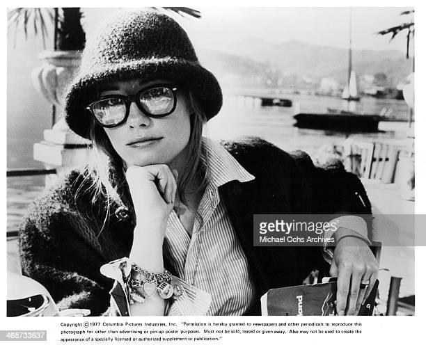 Actress Cybill Shepherd on set the movie 'Silver Bears' circa 1977