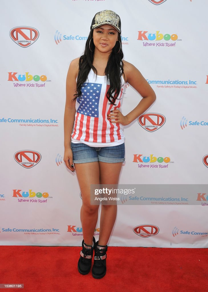 Actress Cymphonique Miller arrives at 'Family Day' hosted by Nick Cannon at Santa Monica Pier on October 6, 2012 in Santa Monica, California.