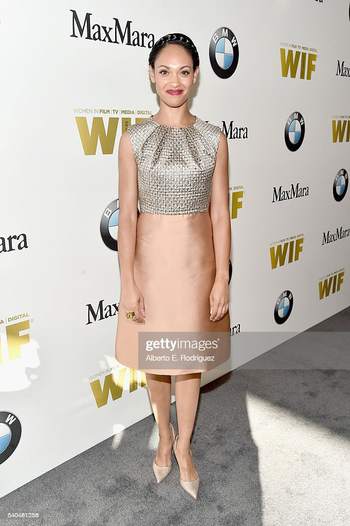 Actress Cynthia AddaiRobinson wearing Max Mara attends Women In Film 2016 Crystal Lucy Awards Presented by Max Mara and BMW at The Beverly Hilton on...