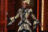 Actress Cynthia Erivo accepts the award for Best Performance by an Actress in a Leading Role in a Musical in 'The Color Purple' onstage during the...