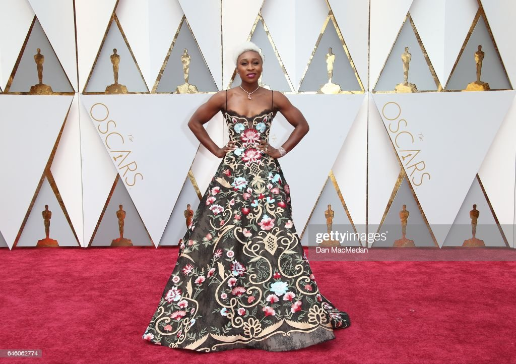 Actress Cynthia Erivo arrives at the 89th Annual Academy Awards at Hollywood & Highland Center on February 26, 2017 in Hollywood, California.