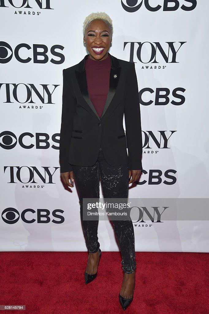 Actress Cynthia Erivo attends the 2016 Tony Awards Meet The Nominees Press Reception on May 4, 2016 in New York City.