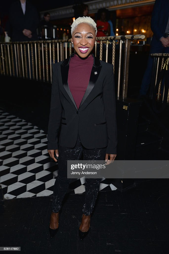 Actress <a gi-track='captionPersonalityLinkClicked' href=/galleries/search?phrase=Cynthia+Erivo&family=editorial&specificpeople=8553747 ng-click='$event.stopPropagation()'>Cynthia Erivo</a> attends the 2016 Tony Awards Meet The Nominees Press Reception on May 4, 2016 in New York City.