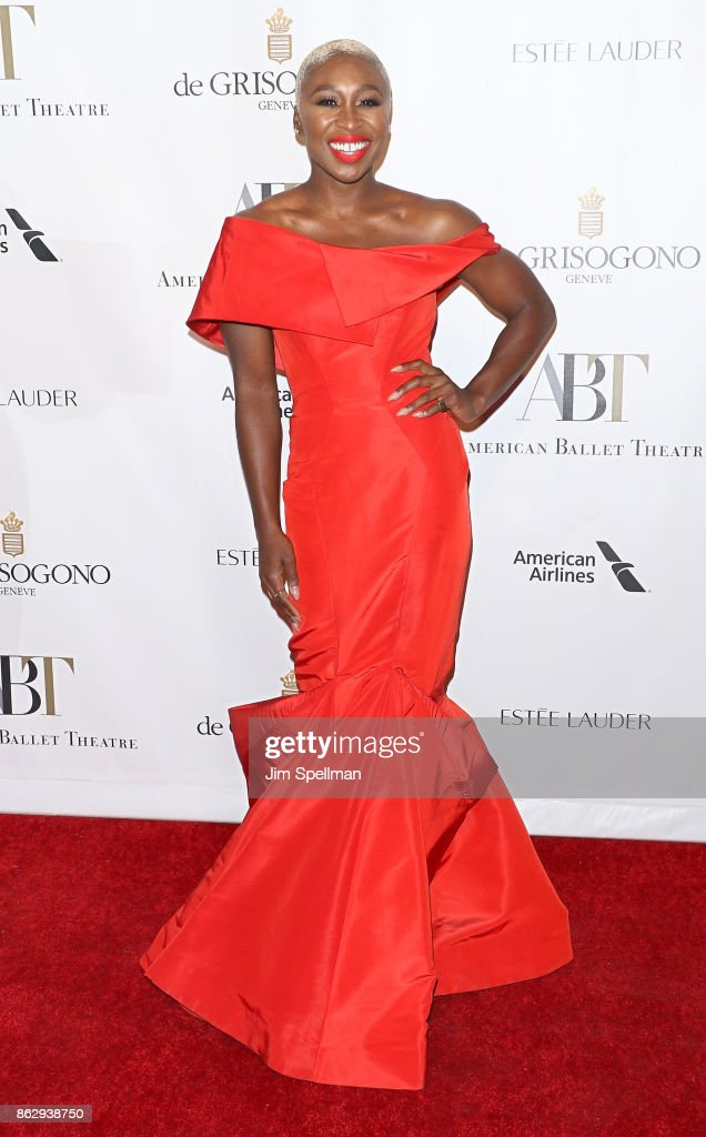 Actress Cynthia Erivo attends the 2017 American Ballet Theatre Fall gala at David H. Koch Theater at Lincoln Center on October 18, 2017 in New York City.