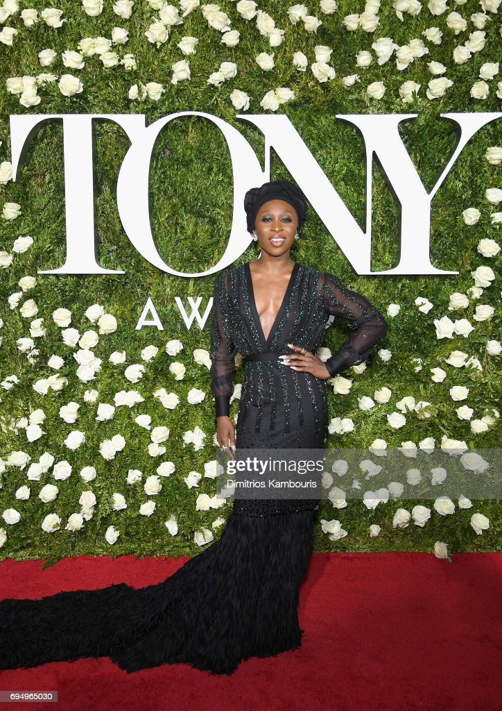 Actress Cynthia Erivo attends the 2017 Tony Awards at Radio City Music Hall on June 11, 2017 in New York City.