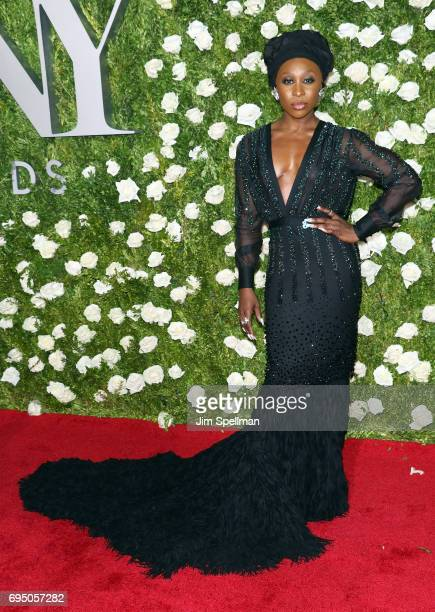 Actress Cynthia Erivo attends the 71st Annual Tony Awards at Radio City Music Hall on June 11 2017 in New York City