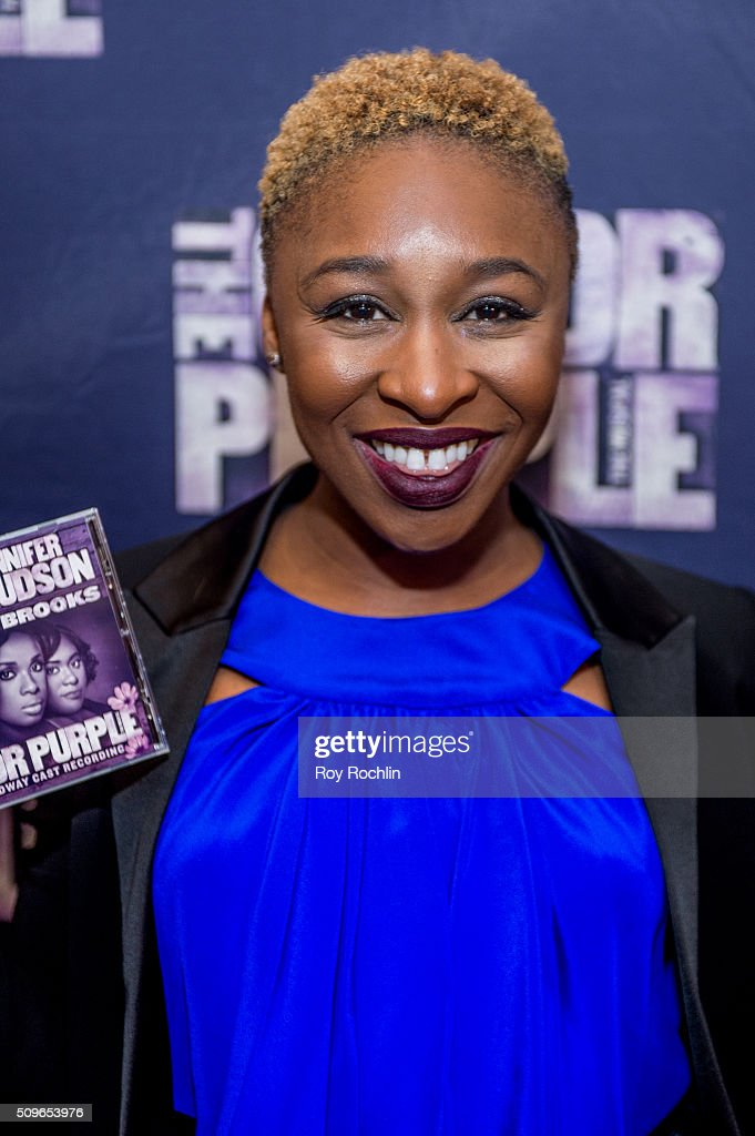 Actress <a gi-track='captionPersonalityLinkClicked' href=/galleries/search?phrase=Cynthia+Erivo&family=editorial&specificpeople=8553747 ng-click='$event.stopPropagation()'>Cynthia Erivo</a> attends 'The Color Purple' Listening Party at W New York - Time Square on February 11, 2016 in New York City.