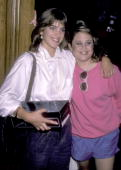Actress Cynthia Gibb and actress Dana Hill attend The Big Sisters Foundation's Celebrity Fashion Show Benefit on October 2 1985 at Beverly Hills...