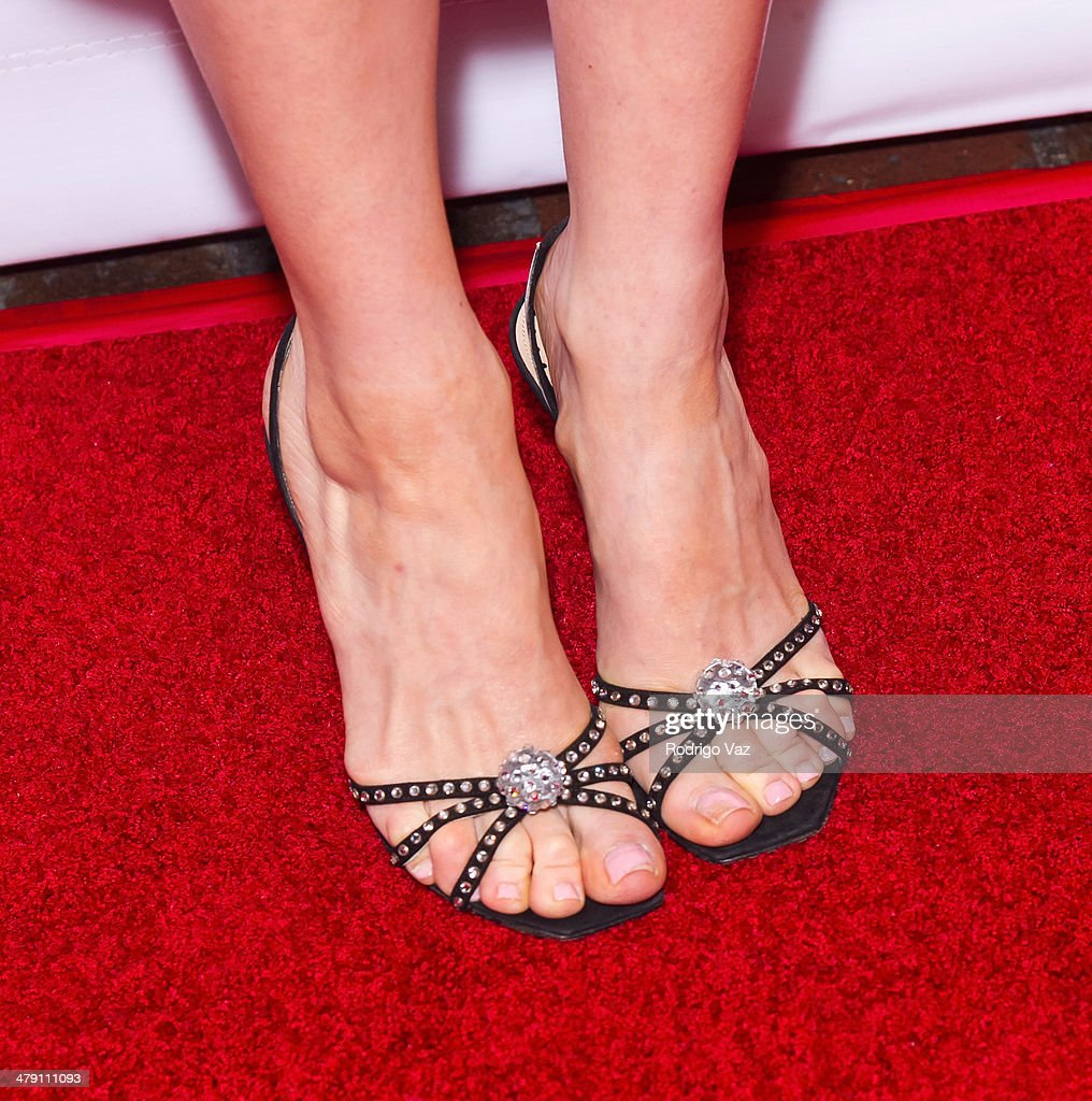 Actress Cynthia Kirchner (shoe detail) attends The Dream Builders Project 'A Brighter Future For Children' at H.O.M.E. on March 15, 2014 in Beverly Hills, California.