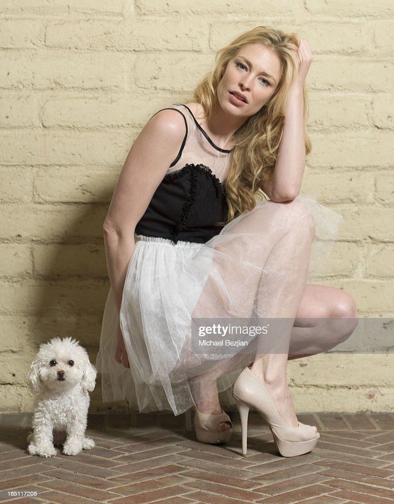 Actress Cynthia Kirchner Hope Turner Models a dress by 'Beautiful Addiction' at Posing Heroes, 'A Dog Day Afternoon' Benefiting A Wish For Animals on March 30, 2013 in Los Angeles, California.