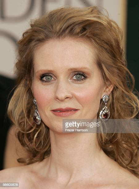 Actress Cynthia Nixon arrives to the 63rd Annual Golden Globe Awards at the Beverly Hilton on January 16 2006 in Beverly Hills California