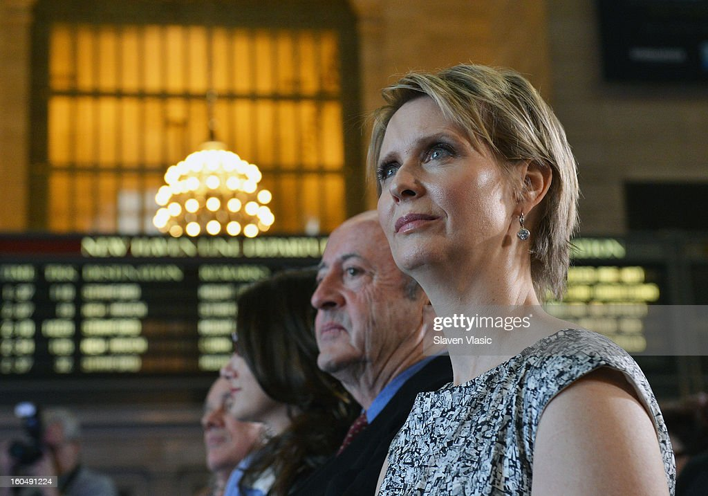 Actress Cynthia Nixon attends Grand Central Terminal 100th Anniversary Celebration at Grand Central Terminal on February 1, 2013 in New York City.