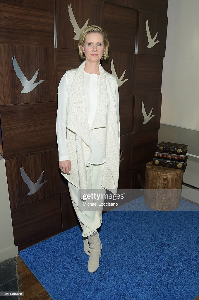 Actress <a gi-track='captionPersonalityLinkClicked' href=/galleries/search?phrase=Cynthia+Nixon&family=editorial&specificpeople=202583 ng-click='$event.stopPropagation()'>Cynthia Nixon</a> attends GREY GOOSE Blue Door Hosts 'Stockholm, Pennsylvania' Party on January 23, 2015 in Park City, Utah.