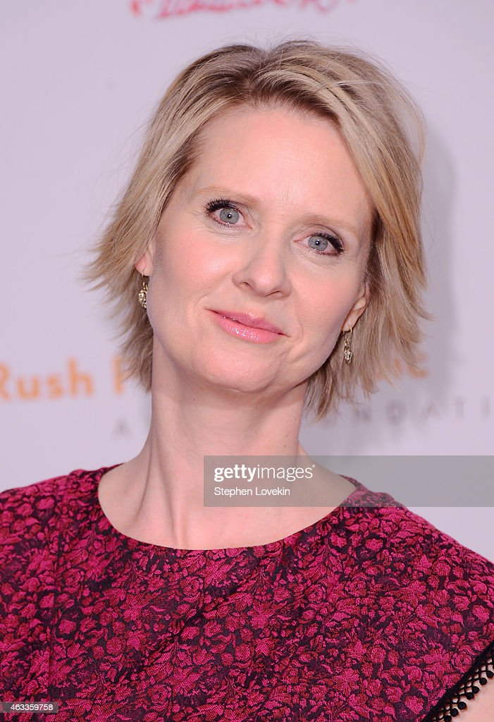 Actress <a gi-track='captionPersonalityLinkClicked' href=/galleries/search?phrase=Cynthia+Nixon&family=editorial&specificpeople=202583 ng-click='$event.stopPropagation()'>Cynthia Nixon</a> attends Russell Simmons' Rush Philanthropic Arts Foundation's annual Rush HeARTS Education Valentine's Luncheon at The Plaza Hotel on February 13, 2015 in New York City.