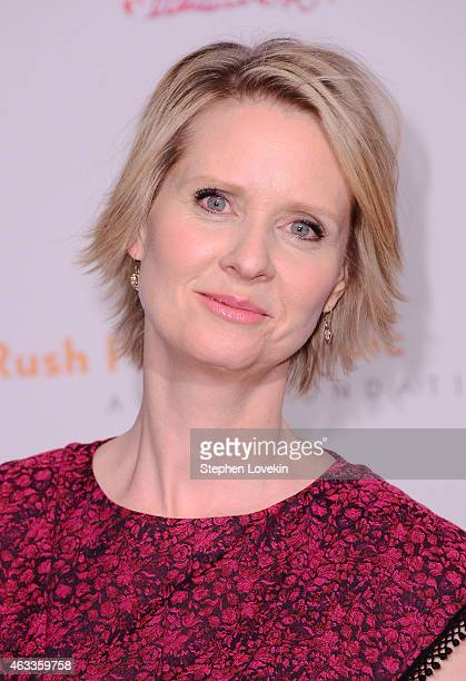 Actress Cynthia Nixon attends Russell Simmons' Rush Philanthropic Arts Foundation's annual Rush HeARTS Education Valentine's Luncheon at The Plaza...