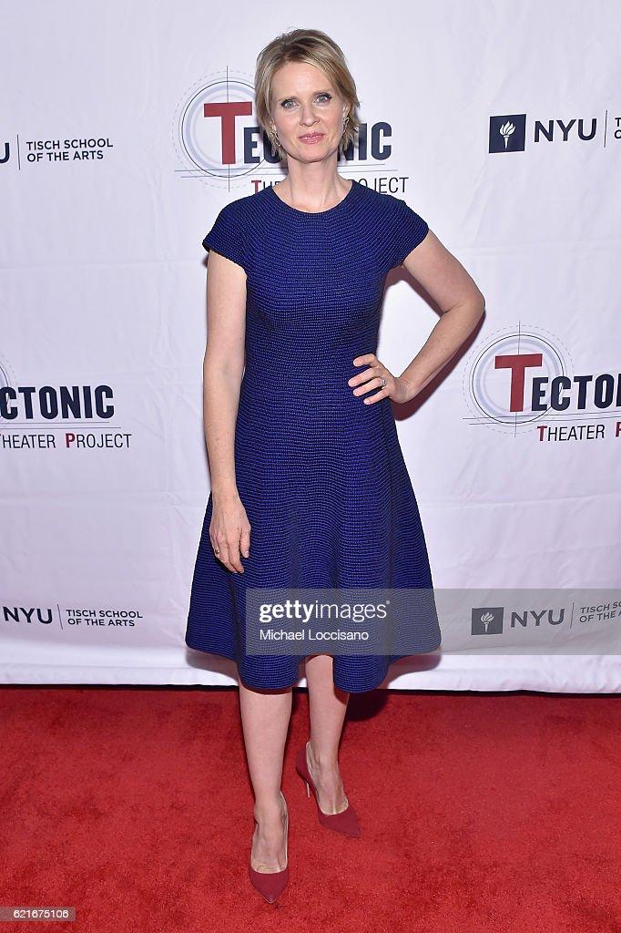 Actress Cynthia Nixon attends Tectonic At 25! at the NYU Skirball Center on November 7, 2016 in New York City.