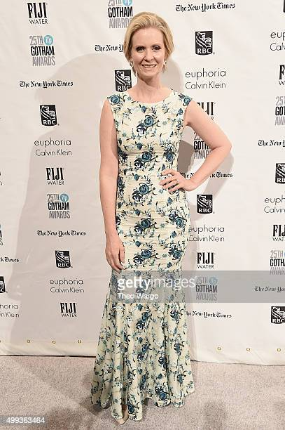 Actress Cynthia Nixon attends the 25th Annual Gotham Independent Film Awards at Cipriani Wall Street on November 30 2015 in New York City