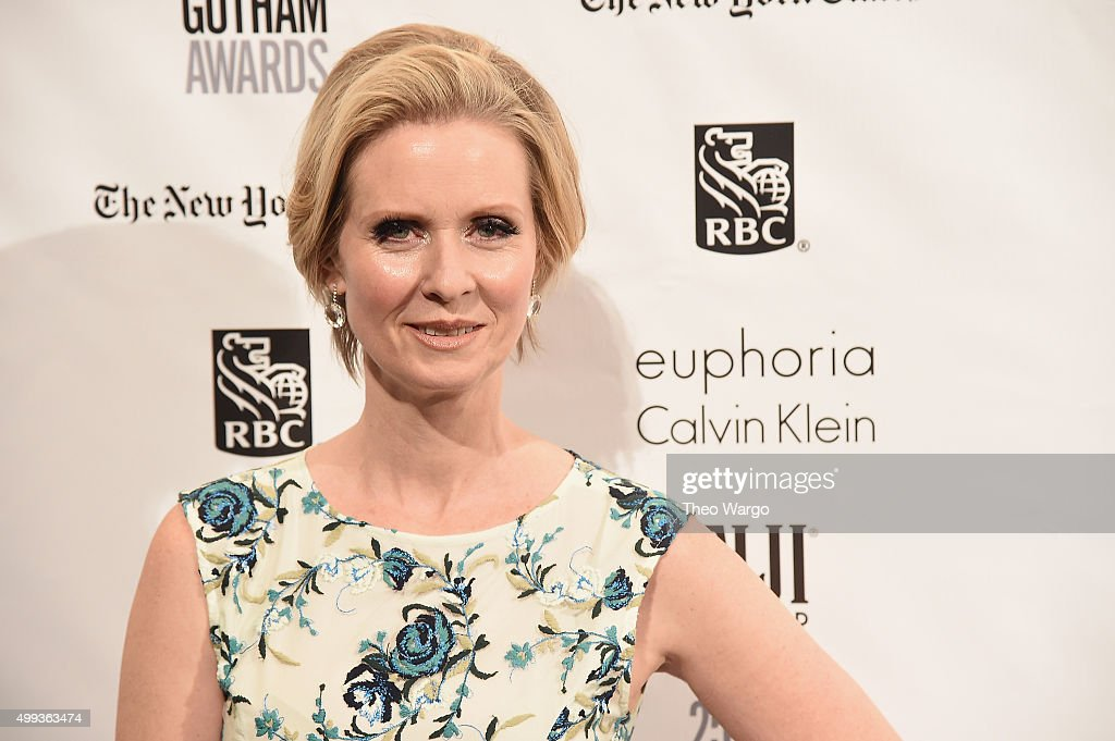Actress <a gi-track='captionPersonalityLinkClicked' href=/galleries/search?phrase=Cynthia+Nixon&family=editorial&specificpeople=202583 ng-click='$event.stopPropagation()'>Cynthia Nixon</a> attends the 25th Annual Gotham Independent Film Awards at Cipriani Wall Street on November 30, 2015 in New York City.