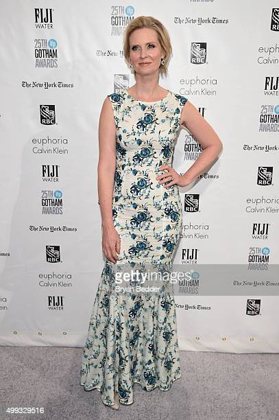 Actress Cynthia Nixon attends the 25th IFP Gotham Independent Film Awards cosponsored by FIJI Water on November 30 2015 in New York City