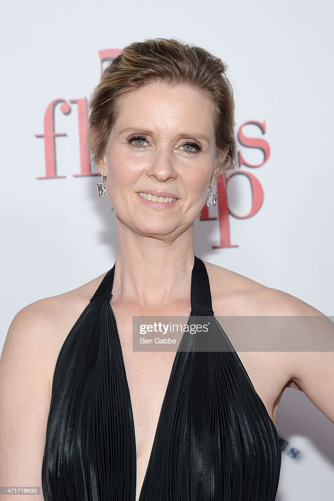 Actress <a gi-track='captionPersonalityLinkClicked' href=/galleries/search?phrase=Cynthia+Nixon&family=editorial&specificpeople=202583 ng-click='$event.stopPropagation()'>Cynthia Nixon</a> attends the '5 Flights Up' New York premiere at BAM Rose Cinemas on April 30, 2015 in New York City.