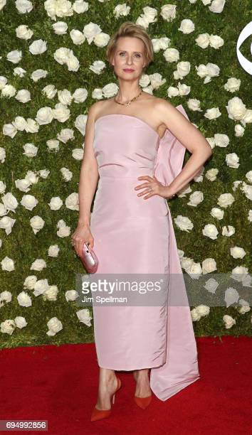 Actress Cynthia Nixon attends the 71st Annual Tony Awards at Radio City Music Hall on June 11 2017 in New York City