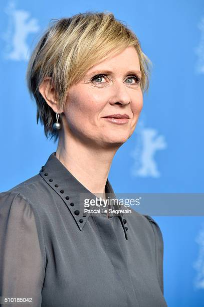 Actress Cynthia Nixon attends the 'A Quiet Passion' photo call during the 66th Berlinale International Film Festival Berlin at Grand Hyatt Hotel on...