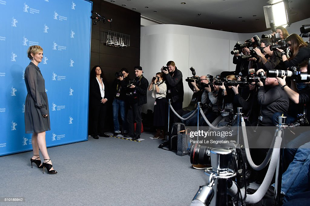 Actress Cynthia Nixon attends the 'A Quiet Passion' photo call during the 66th Berlinale International Film Festival Berlin at Grand Hyatt Hotel on February 14, 2016 in Berlin, Germany.