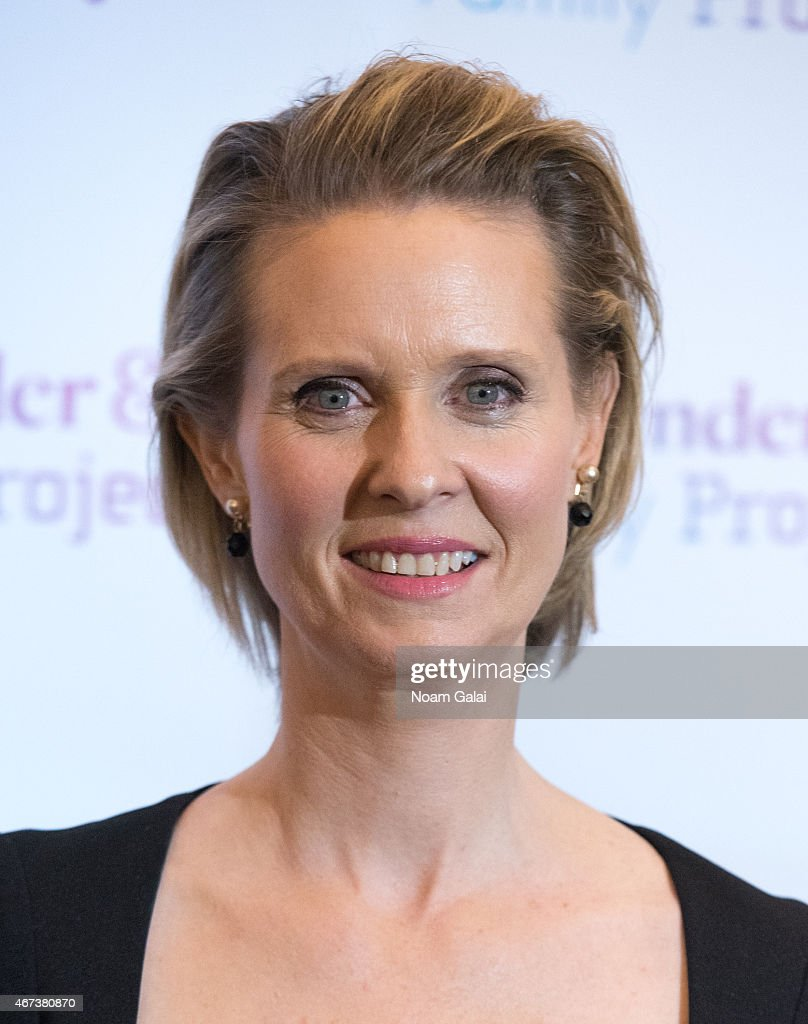Actress <a gi-track='captionPersonalityLinkClicked' href=/galleries/search?phrase=Cynthia+Nixon&family=editorial&specificpeople=202583 ng-click='$event.stopPropagation()'>Cynthia Nixon</a> attends The Ackerman Institute's Gender & Family Project's 'A Night of a Thousand Genders' at Joe's Pub on March 23, 2015 in New York City.