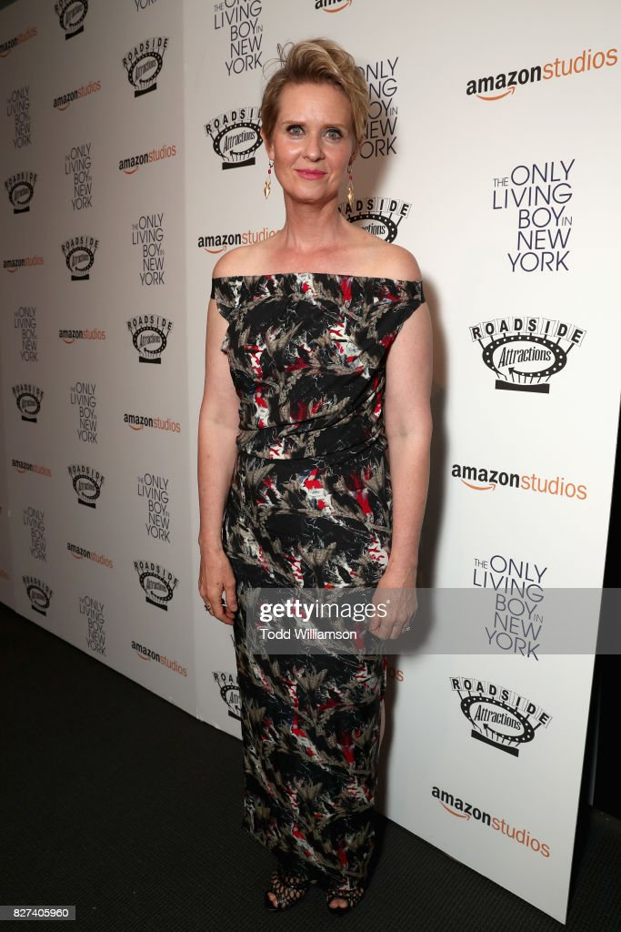 Actress Cynthia Nixon attends 'The Only Living Boy In New York' Premiere at Museum of Modern Art on August 7, 2017 in New York City.