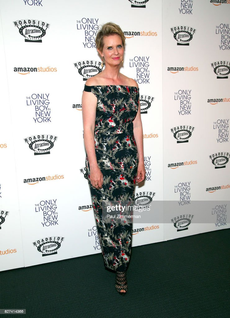 Actress Cynthia Nixon attends 'The Only Living Boy In New York' New York premiere at The Museum of Modern Art on August 7, 2017 in New York City.