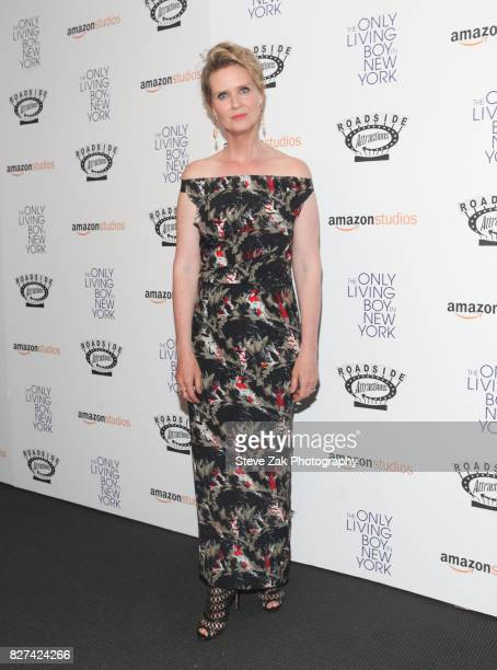 Actress Cynthia Nixon attends 'The Only Living Boy In New York' New York premiere at The Museum of Modern Art on August 7 2017 in New York City