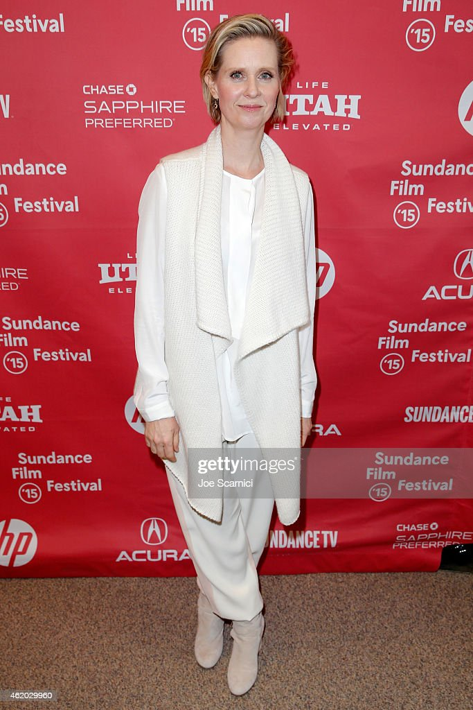 Actress <a gi-track='captionPersonalityLinkClicked' href=/galleries/search?phrase=Cynthia+Nixon&family=editorial&specificpeople=202583 ng-click='$event.stopPropagation()'>Cynthia Nixon</a> attends the 'Stockholm, Pennylvania' Premiere during the 2015 Sundance Film Festival at the Eccles Center Theatre on January 23, 2015 in Park City, Utah.