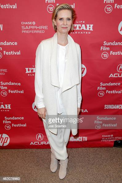 Actress Cynthia Nixon attends the 'Stockholm Pennylvania' Premiere during the 2015 Sundance Film Festival at the Eccles Center Theatre on January 23...