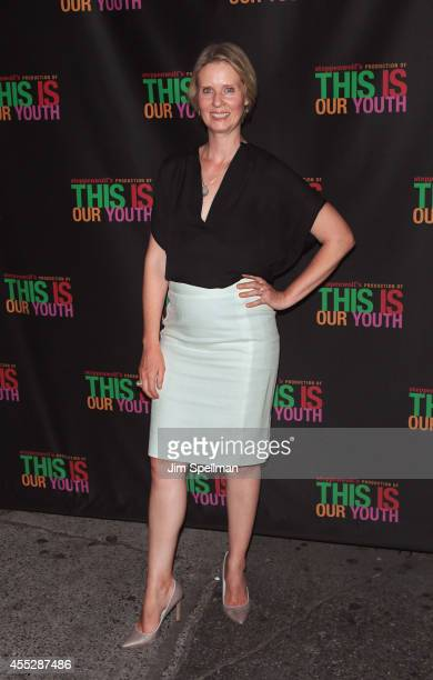 Actress Cynthia Nixon attends the 'This Is Our Youth' Broadway Opening Night at the Cort Theatre on September 11 2014 in New York City