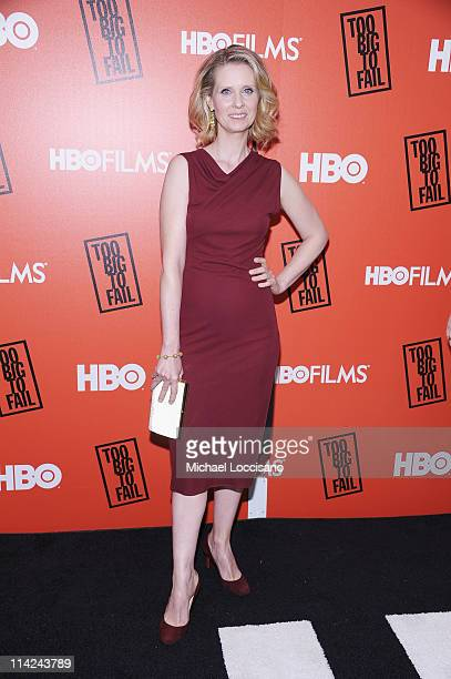Actress Cynthia Nixon attends the 'Too Big To Fail' New York Premiere at The Museum of Modern Art on May 16 2011 in New York City