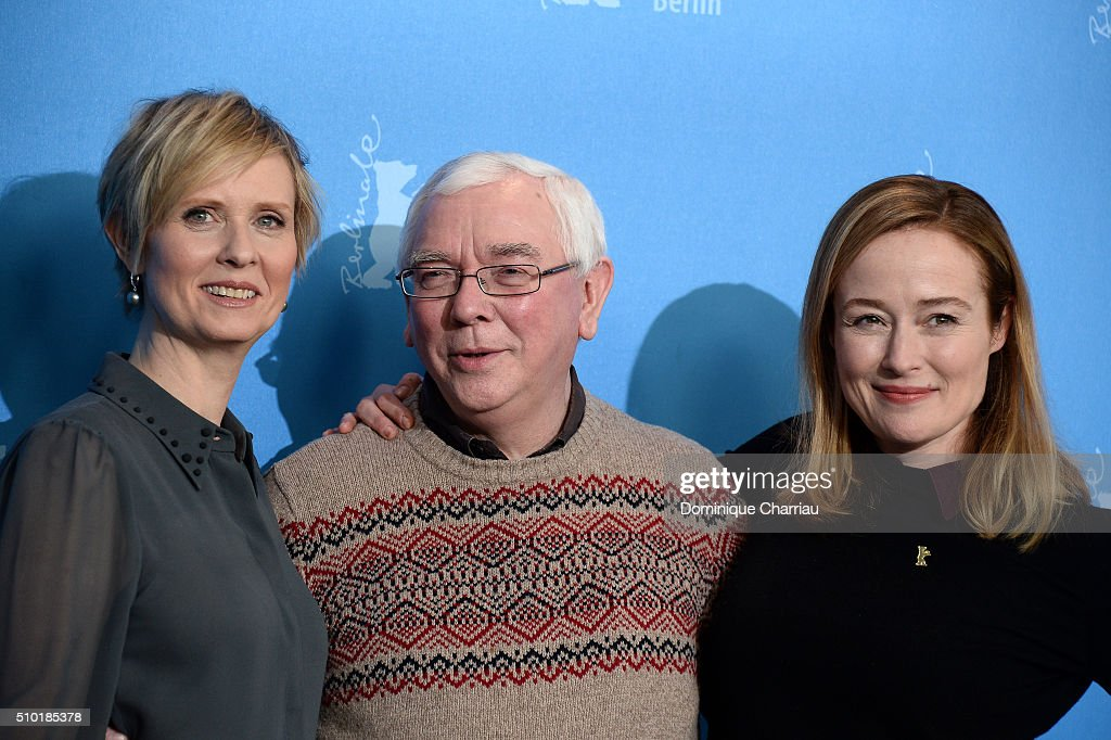Actress Cynthia Nixon, director Terence Davies and actress Jennifer Ehle attend the 'A Quiet Passion' photo call during the 66th Berlinale International Film Festival Berlin at Grand Hyatt Hotel on February 14, 2016 in Berlin, Germany.