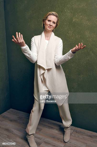 Actress Cynthia Nixon from 'James White' poses for a portrait at the Village at the Lift Presented by McDonald's McCafe during the 2015 Sundance Film...