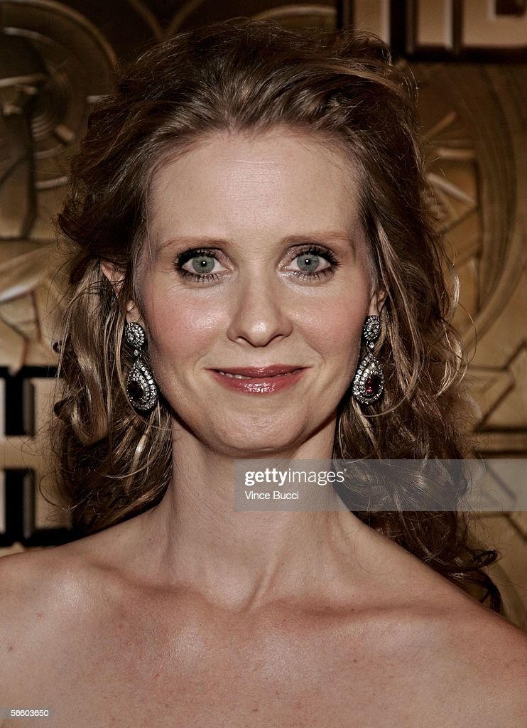 Actress Cynthia Nxon arrives at the HBO Golden Globe after party held at the Beverly Hilton on January 16, 2006 in Beverly Hills, California.